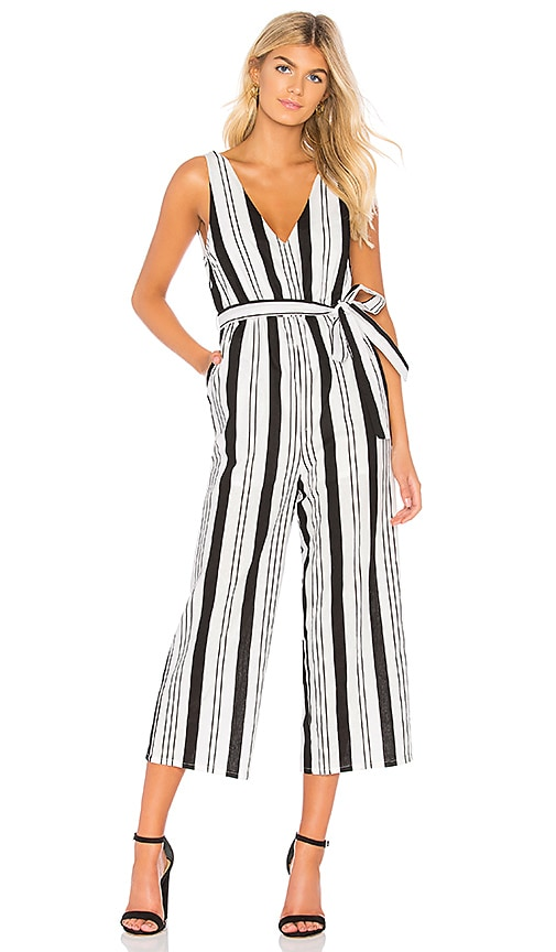 Stripe Linen Jumpsuit by Minkpink