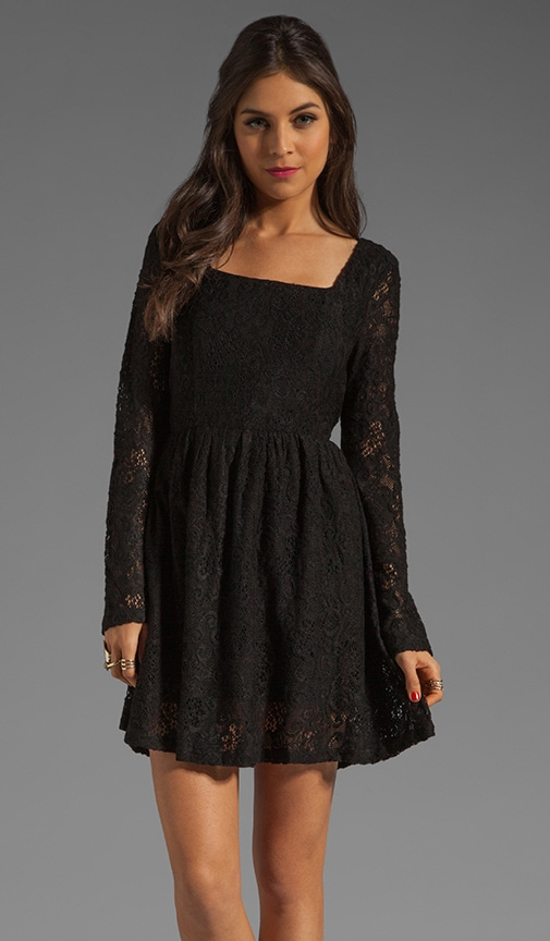 Lost Innocence Long Sleeve Lace Dress