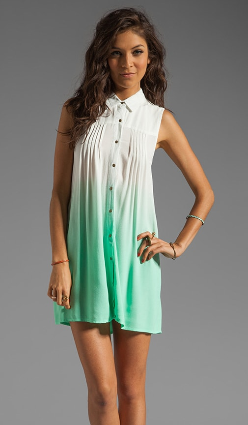 Great White Ombre Shirt Dress