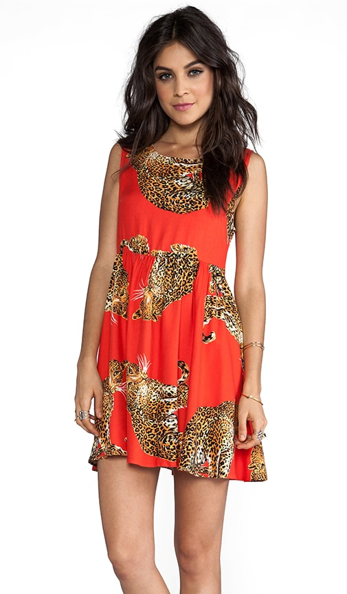 King of the Jungle Baby Doll Dress Multi