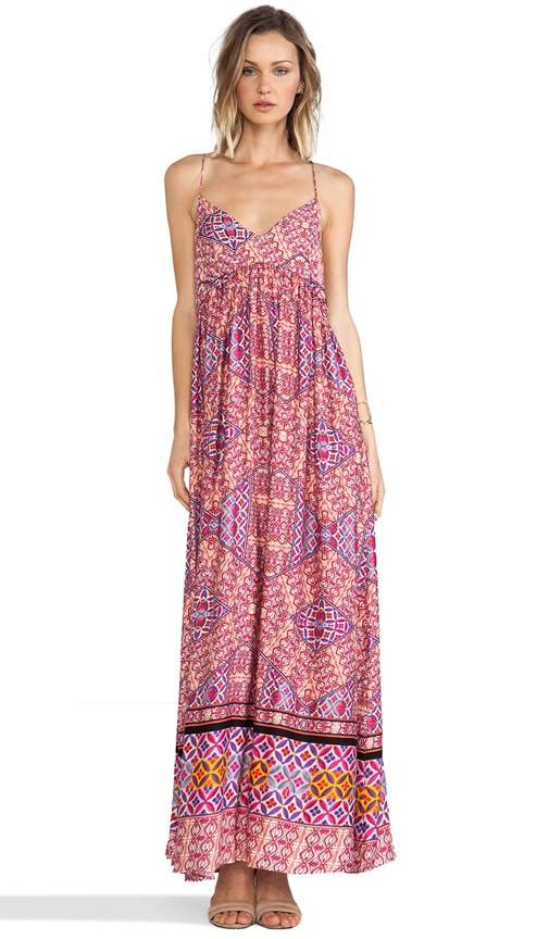 Water color Tiles Maxi Dress
