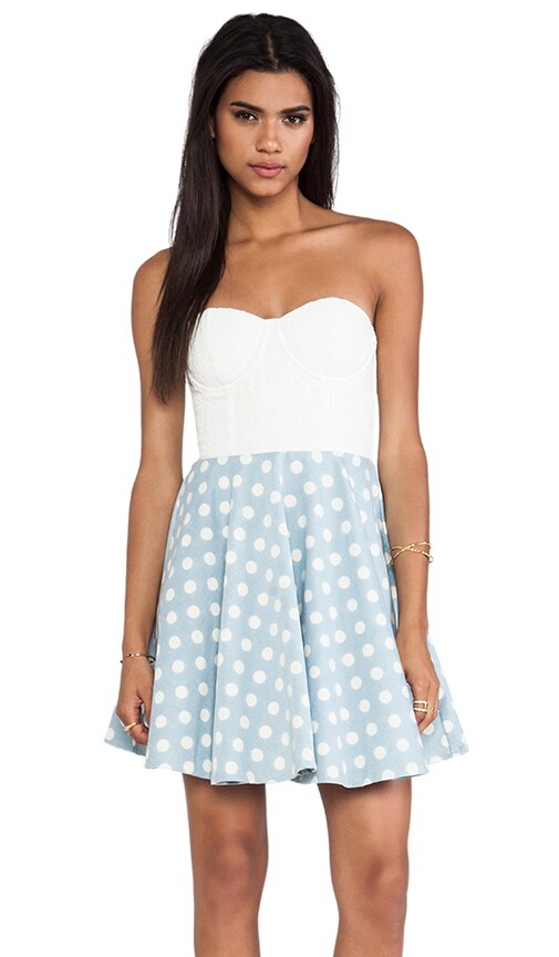 MINKPINK Sugar Magnolia Dress in Baby Blue