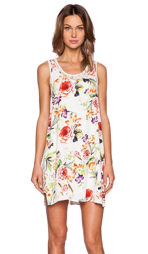 Flowers and Lace Double Layer Tank Dress