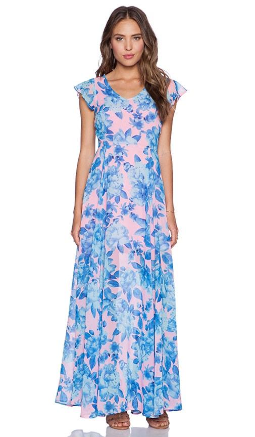 MINKPINK Bubblegum Blossom Maxi Dress in Multi