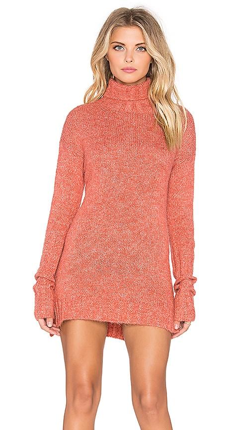 Curious Turtleneck Sweater Dress