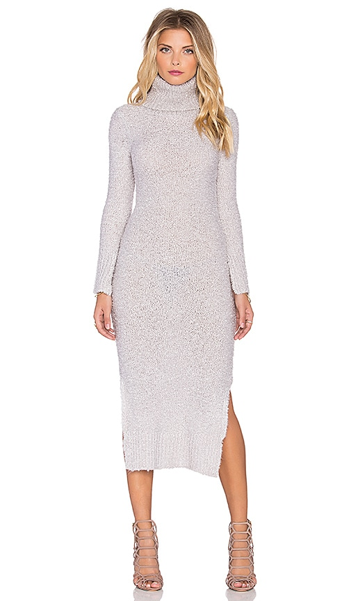 MINKPINK See You Around Maxi Dress in Pale Grey