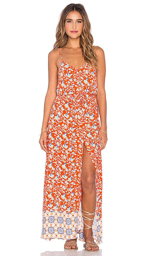 MINKPINK Neighborhood Maxi Dress in Orange