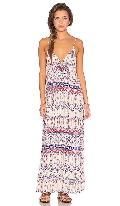 MINKPINK Western Wonder Maxi Dress in Ivory