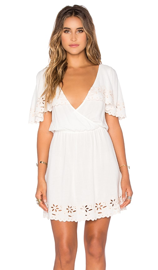 MINKPINK White Shadows Dress in Off White