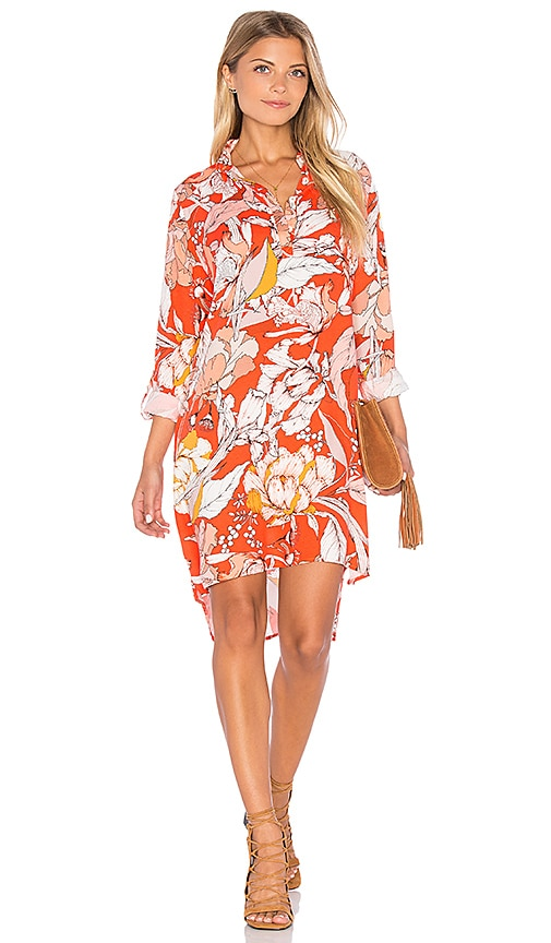 MINKPINK Orange Blossom Dress in Orange