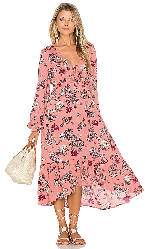 MINKPINK Field of Dreams Dress in Rose