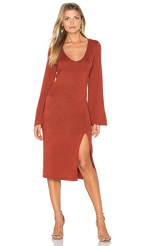 MINKPINK Start Over Dress in Rust