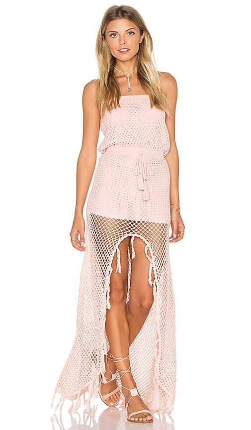 MINKPINK Woven Together Dress in Pink