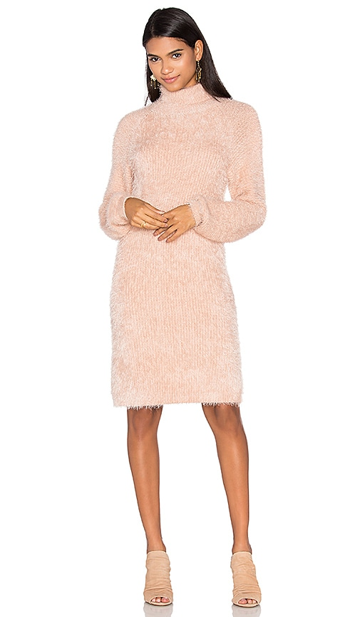 MINKPINK Soft Serve Sweater Dress in Beige