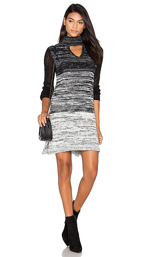 MINKPINK Spectrum Sweater Dress in Black
