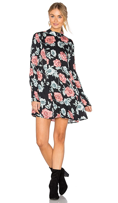 MINKPINK Garden of Eden Tunic Dress in Black