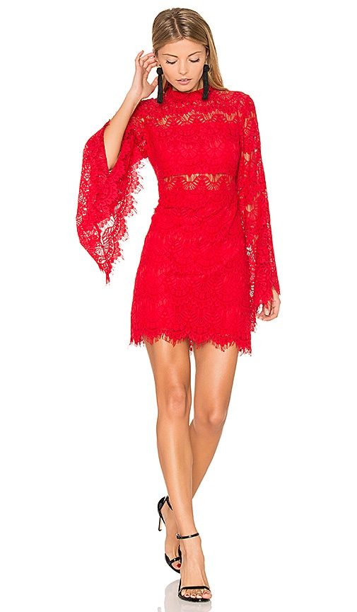 MINKPINK Drama Queen Dress in Red
