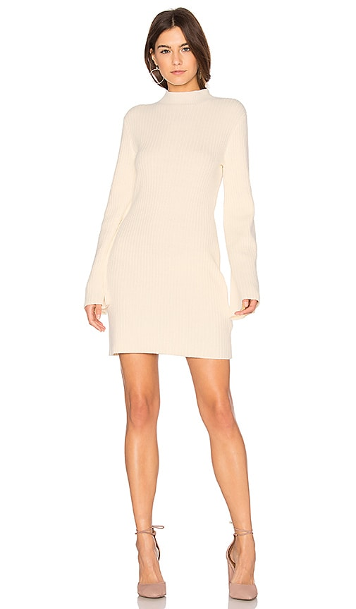 MINKPINK Open Arms Jumper Dress in Cream