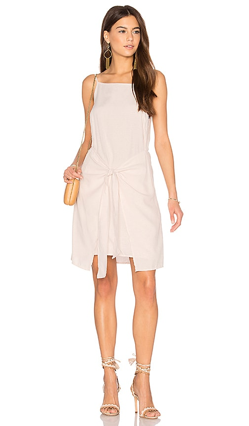 MINKPINK Island Tie Front Dress in Beige