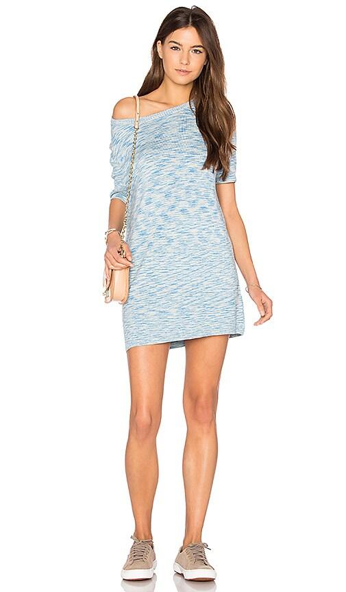 MINKPINK Space Dye Knit Mini Tee Dress in Blue