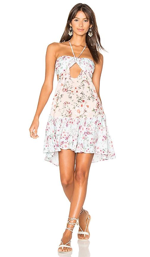 MINKPINK Sherbet Spliced Dress in Pink