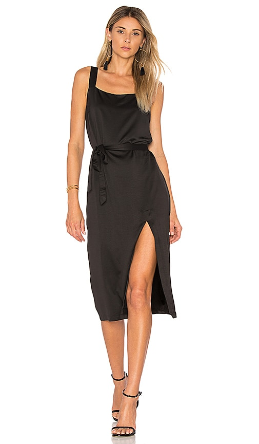 MINKPINK Bridget Midi Dress in Black