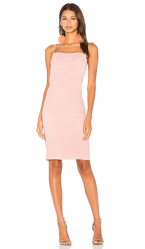 MINKPINK Textured Suede Cowl Slip Dress in Pink