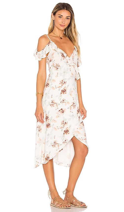 Innocence Wrap Midi Dress