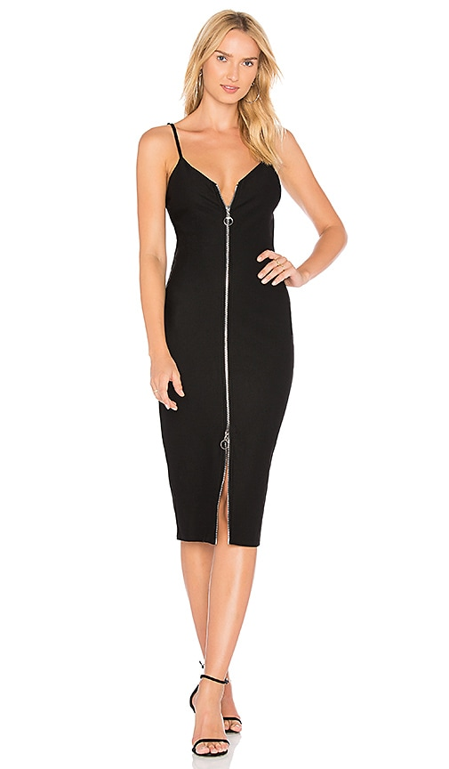 MINKPINK Zip Through Dress in Black