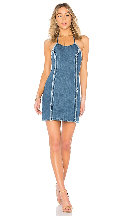 MINKPINK Wild Ones Denim Dress in Indigo