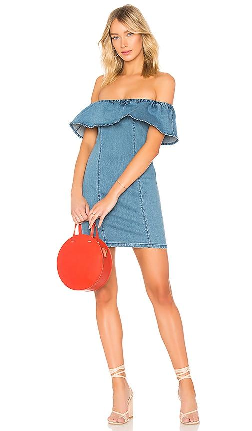 MINKPINK Malibu Mini Dress in Mid Blue