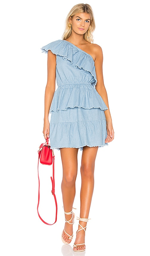 One Shoulder Dress in Blue. - size L (also in M,S,XS) Minkpink