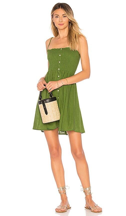 MINKPINK Lush Smocked Dress in Green