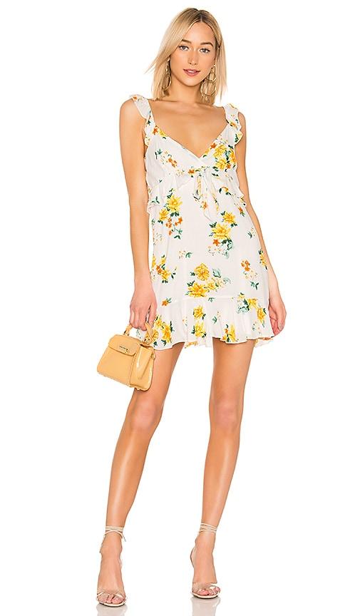 Lemon Bloom Mini Dress