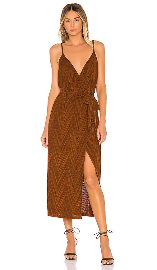 Strappy Wrap Dress