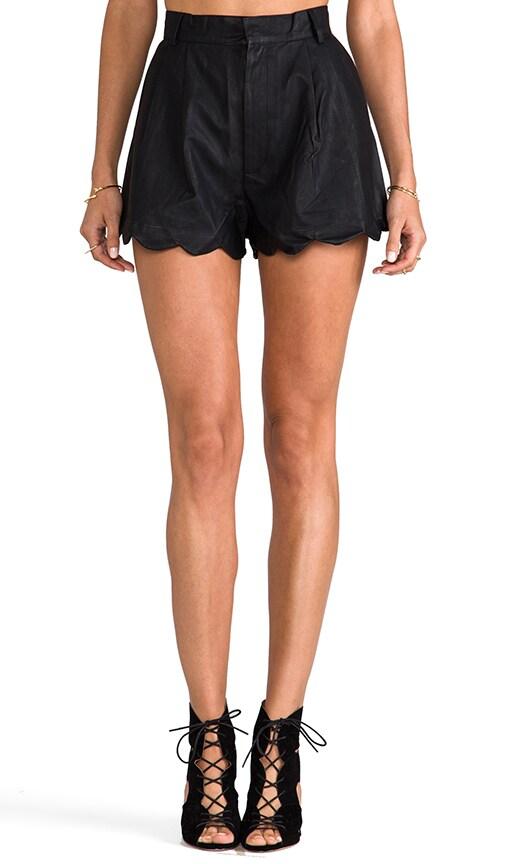 Sport Luxe High Waisted Scalloped Short
