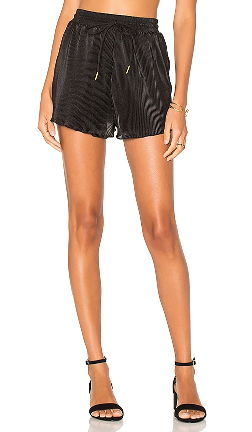 MINKPINK Pleated Shorts in Black