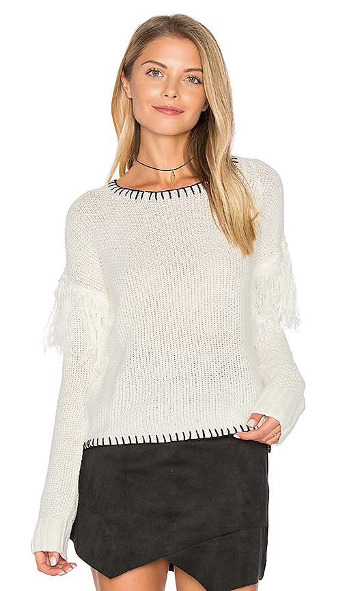 MINKPINK Miles Apart Sweater in White