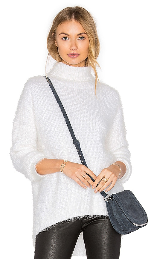 MINKPINK Snuggle Skivvy Sweater in White