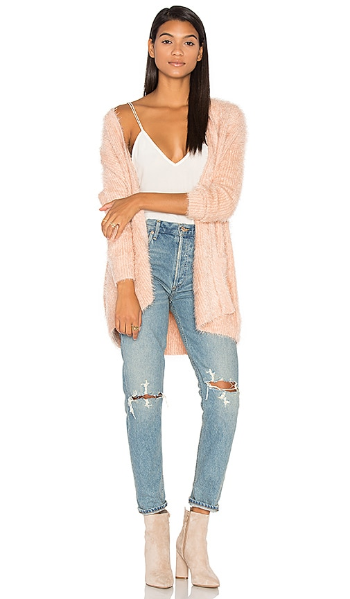 MINKPINK Soft Serve Cardigan in Blush