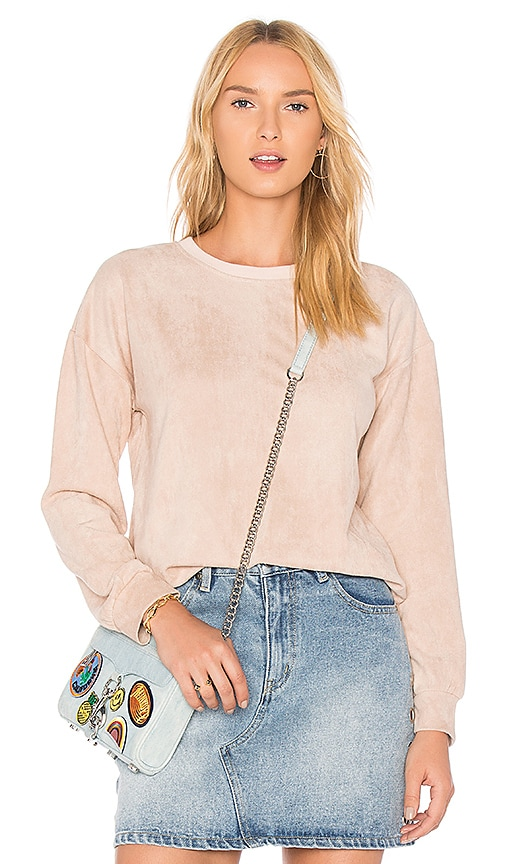 MINKPINK Suede Sweater in Pink