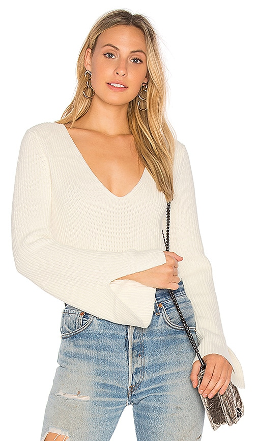 MINKPINK Mona Split Sleeve Sweater in Ivory