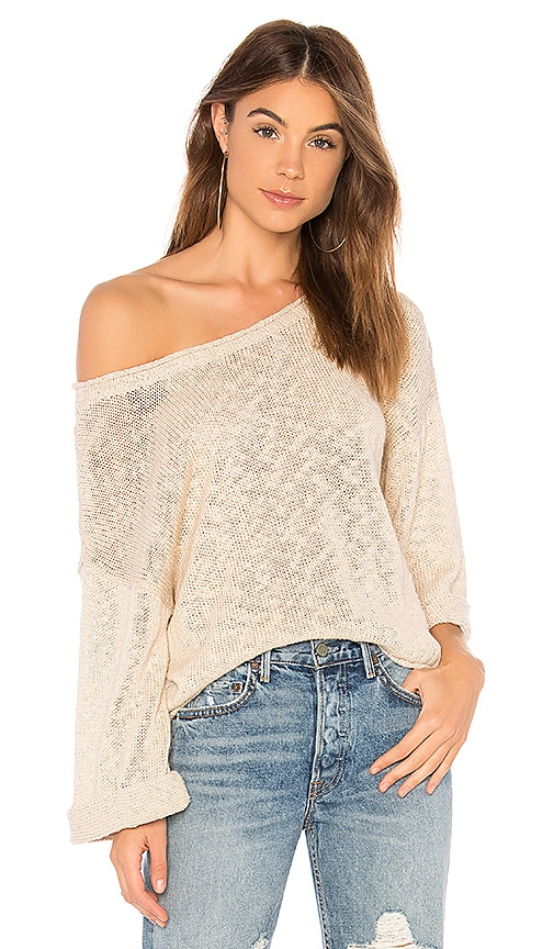 MINKPINK Rancho Relaxo Sweater in Beige