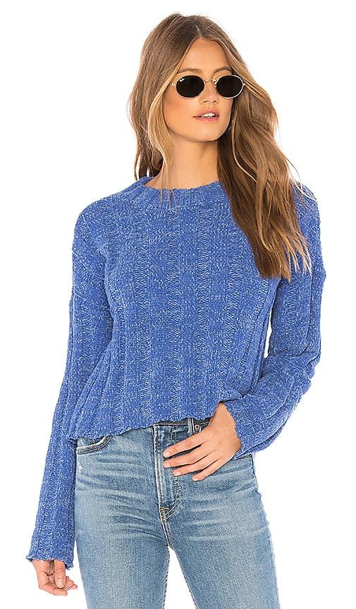 f6c291e2ce1 MINKPINK Chenille Rib Knit Sweater in Blue