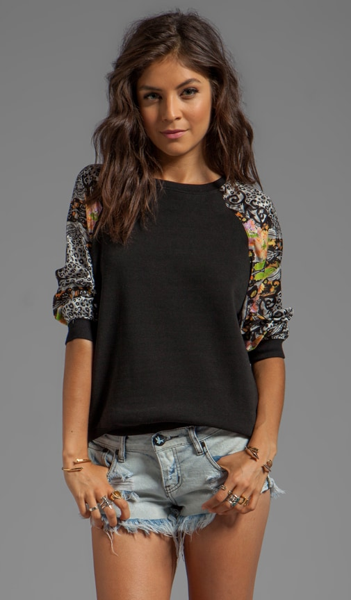 Versailles Pullover with Printed Sleeves