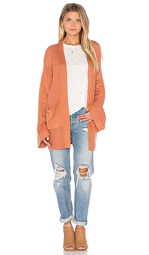 MINKPINK Flourish Cardigan in Orange