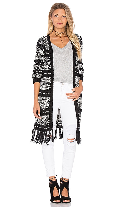 MINKPINK Smoke on the Water Cardigan in Black & White