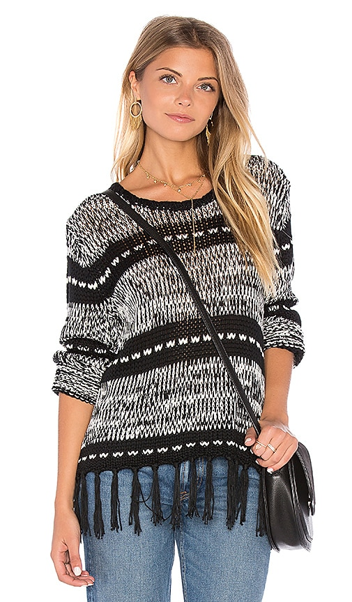 MINKPINK Smoke on the Water Sweater in Black & White