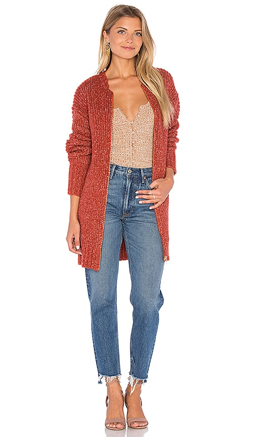 MINKPINK By the Fire Cardigan in Brick