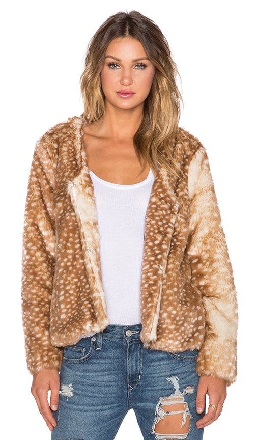 Oh Deer Faux Fur Coat